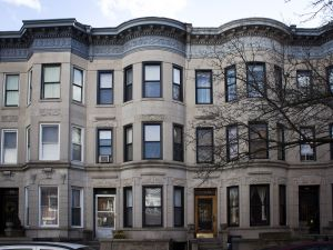 Bow-front townhouses in Prospect-Lefferts Gardens. (Cara Genovese)