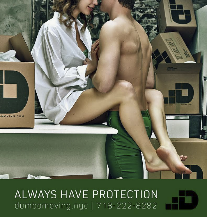 This Banned Moving Company Ad Is Too Sexy For the L Train
