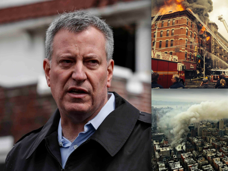 Mayor Bill de Blasio Speaks at Site of East Village Explosion [Updated]