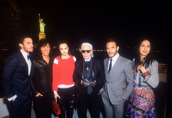 Only Karl Lagerfeld Could Get Fashion's A-List to Pose With the Statue of Liberty