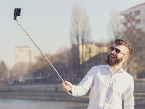 The selfie stick, now contraband. (Photo courtesy Shutterstock)