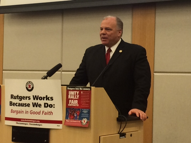 Sweeney on Christie's labor policy: it's a distraction from the economy