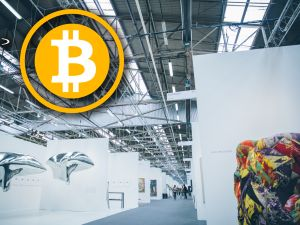 The Armory Show is one of the world's top contemporary art exhibitions each year. We went to see if anyone would sell us art if we offered them tons of bitcoin. (Photo: Roberto Chamorro, with alteration by Jack Smith IV)