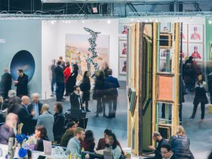 The Armory Show had hundreds of exhibitors. We couldn't find a single one that had sold art with Bitcoin, or even considered it. (Photo: Roberto Chamorro)