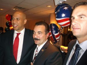 Chairman Prieto, center, with U.S. Senator Cory Booker, left, and Jersey City Mayor Steven Fulop.