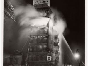 """Simply Add Boiling Water"", Weegee, December 18, 1943.( Photo courtesy of International Center of Photography."
