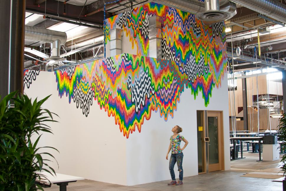 Here's What One Artist Painted on the Walls of Facebook's New Menlo Park Offices