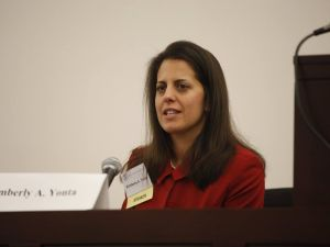Kimberly Yonta is running for Secretary of the New Jersey State Bar Association. Her endorsement by the nominating committee would have once ensured an automatic victory, but lately these elections have been hotly contested. (Facebook)