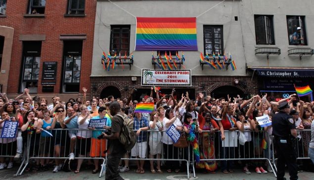 """Events like the Supreme Court's same-sex marriage ruling led to a new definition of """"identity,"""" so Dictionary.com made the term its word of the year. (Photo: Jemal Countess/Getty Images)"""
