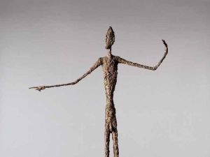 Alberto Giacometti, <em>Pointing Man (L'homme au doigt)</em>. (Courtesy Christie's)