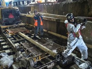 MTA Employees at work constructing the Second Avenue station at 63rd street (MTA/Patrick J. Cashin)