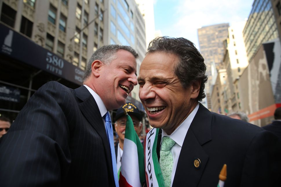 De Blasio 'Happy' to Work With Cuomo Against Trump—if He Gets 'Fairness' From Albany
