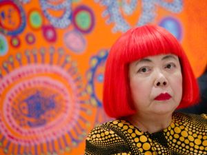 Yayoi Kusama. (Photo by Andrew Toth/Getty Images)
