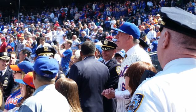 Mayor Bill de Blasio shortly before he was booed today. (Photo: Ross Barkan/New York Observer)
