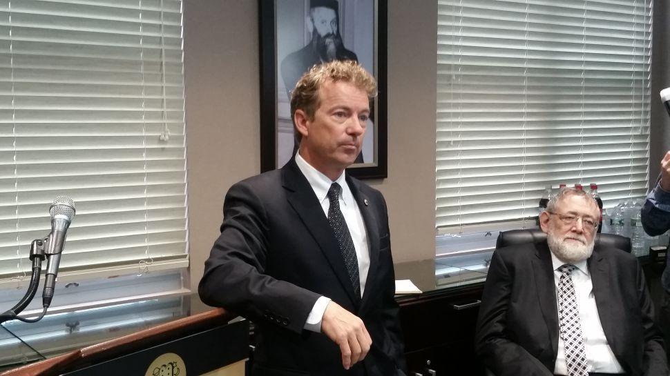 Rand Paul Tells Jewish Audience It Was a 'Mistake' to Topple Saddam Hussein