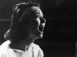 Susan Strasberg in the thriller 'Taste of Fear' (Photo by Keystone/Getty Images).