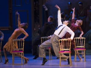 An American in Paris. Front and center, Robert Fairchild. (Photo: Angela Sterling)