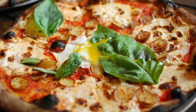 Roberta's potato and egg pizza. Photo: Howard Walfish/Flickr Creative Commons