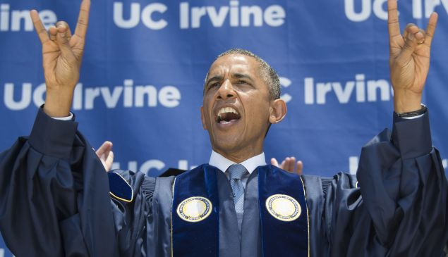 President Barack Obama at the University of California (Photo credit: JIM WATSON/AFP/Getty Images)