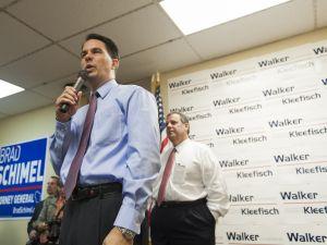 Gov. Scott Walker and Gov. Chris Christie in 2014.