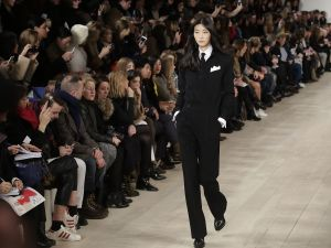 A tuxedo look from Ralph Lauren's F/W 2015 collection. Photo: Getty.