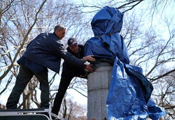 A 100-Pound Statue of Edward Snowden is Installed—Briefly—in Fort Greene Park