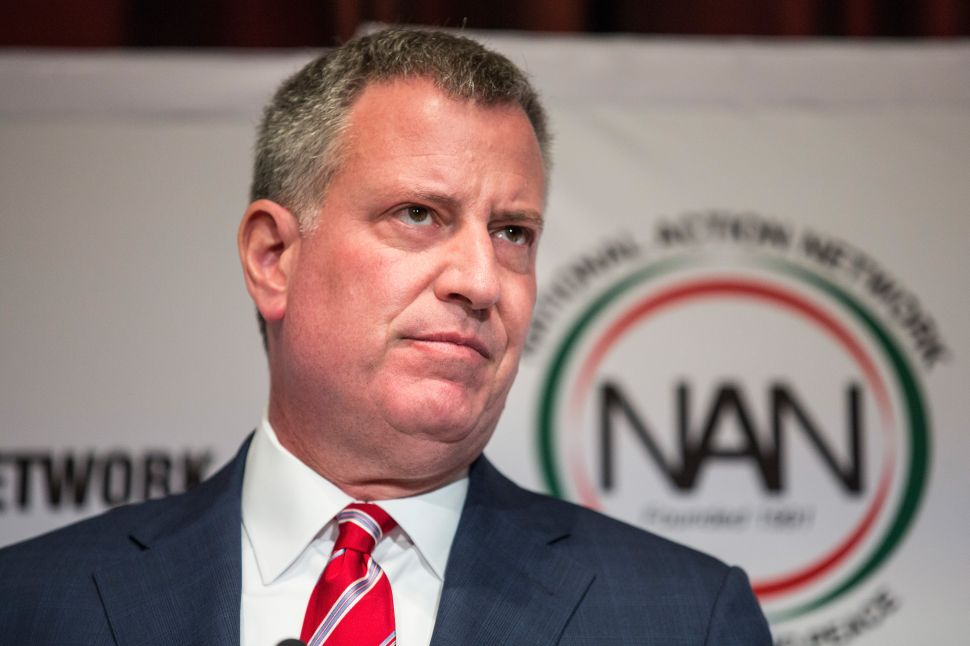 Bill de Blasio Won't Say What He's Doing With His Campaign Nonprofit Today