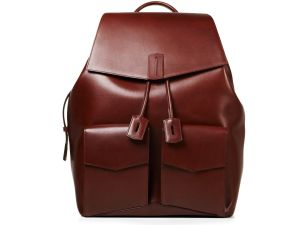 Ravi backpack in Rust Waxy Calf, $3,500.