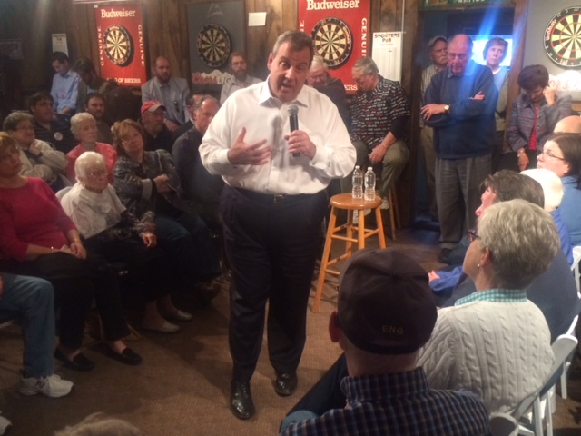 At N.H. town hall, Christie flashes familiar fire, yet charms crowd