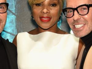 Dan Caten, Mary J. Blige and Dean Caten at the DSQUARED2 party (Photo: Patrick McMullan).