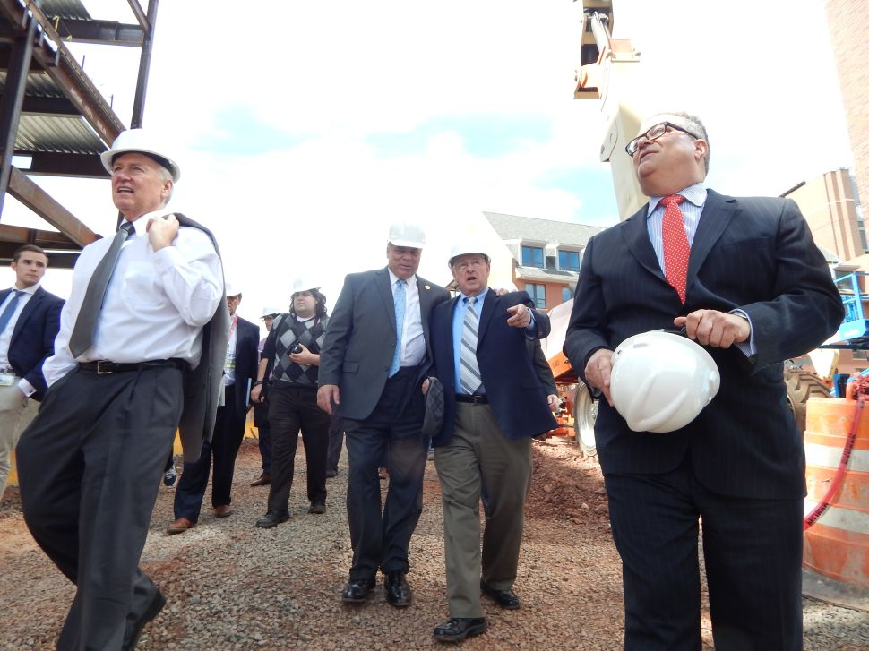 Touring DEVCO sites in New Brunswick, Sweeney says Christie has failed on economy