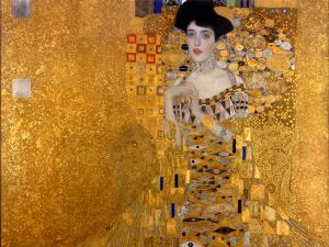 Portrait of Adele Bloch-Bauer I (1907), nicknamed THe Woman in Gold, by Gustav Klimt. (Courtesy, the Neue Galerie)