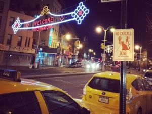 Catcalling signs are posted all around the city, photo courtesy of Alan Martofel, founder of Feminist Apparel