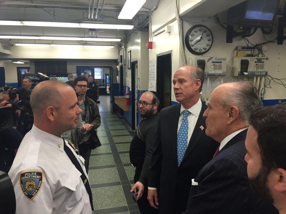 Giuliani Stumps for Donovan on Staten Island Ahead of Tuesday Vote