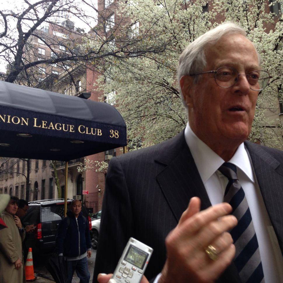 David Koch: Scott Walker Would Defeat Hillary Clinton 'by a Major Margin'