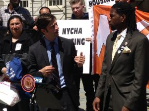 Councilman Stephen Levin, left, and Councilman Jumaane Williams today (Photo: Will Bredderman/New York Observer).