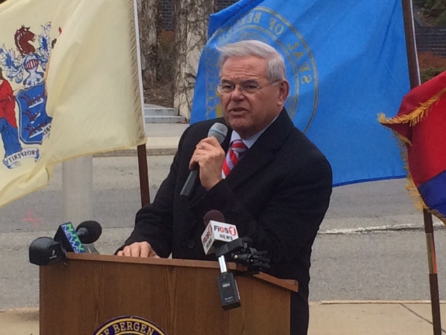 Beleaguered Menendez battles on, smacks Obama foreign policy at Armenian genocide commemoration