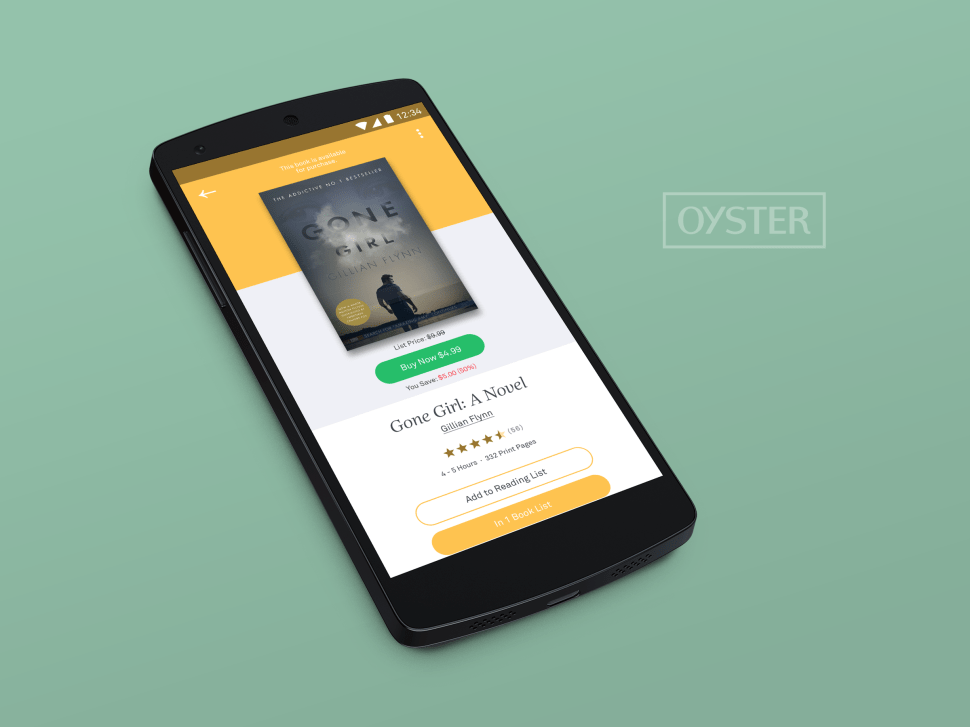 Online Shop Around the Corner: Oyster Launches Ebook Store