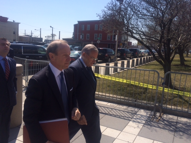 Menendez pleads 'not guilty' to 14 count indictment; status hearing set for April 22