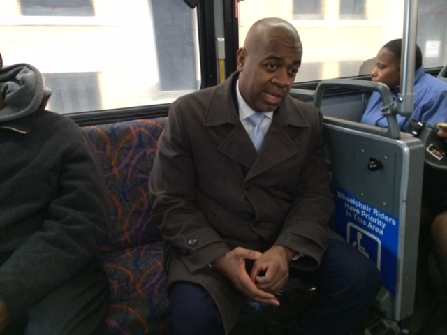 Baraka, on bus, calls for federal help on public transportation as state funds falter