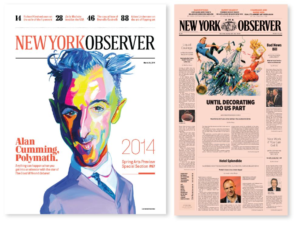 New York Observer Recognized by Society of Publication Designers