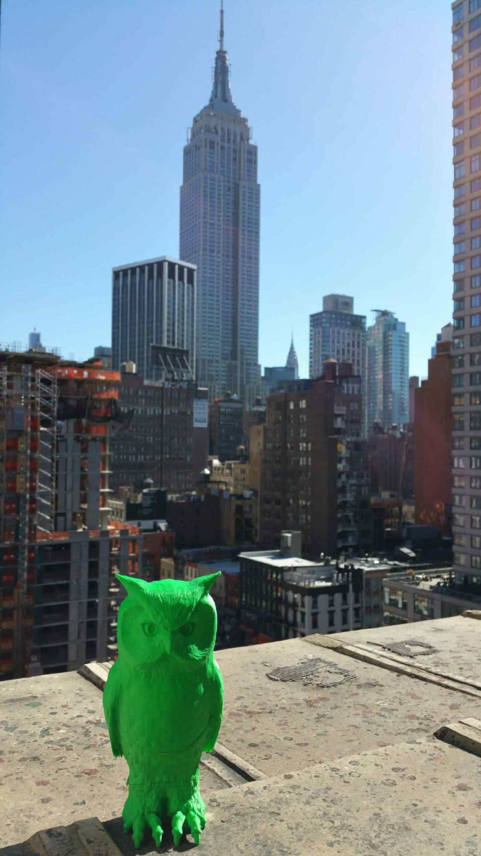 3D Printed Scarecrow Owls Are Successfully Ridding NYC of Those Godawful Pigeons
