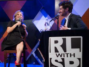 Host Scott Rogowski chats with guest Amy Sedaris (Arman Dzidzovic/New York Observer).