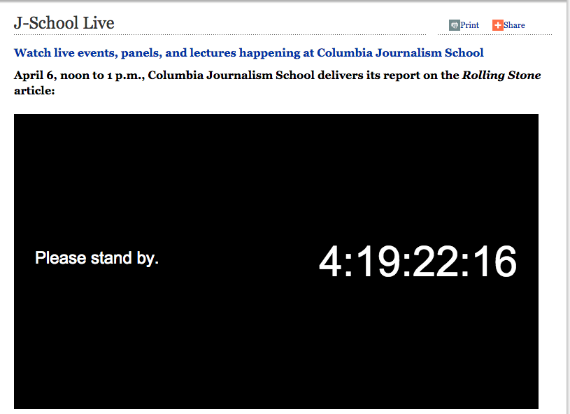 Columbia Will Release Rolling Stone Report on Easter Sunday