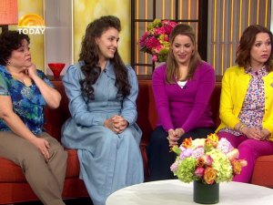 Ms. Adams (second from left) made her TV debut as Gretchen Chalker on Unbreakable Kimmy Schmidt. (Photo: Netflix)
