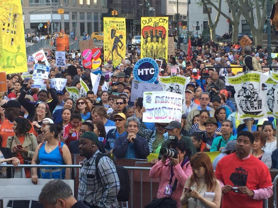 Afternoon Bulletin: Thousands March to Demand Affordable Rent, Canine Dining and More
