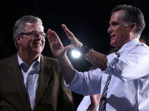 Jeb Bush and Mitt Romney. (Photo: Justin Sullivan/Getty Images)