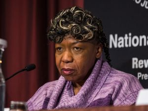 Eric Garner's mother, Gwen Carr (Photo: Andrew Burton/Getty Images).