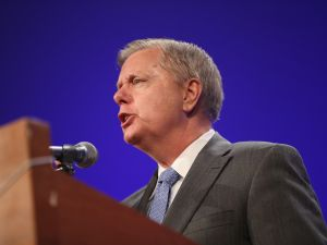 Senator Lindsay Graham (R-SC) is expected to announce his candidacy for President soon. (Photo by Scott Olson/Getty Images)