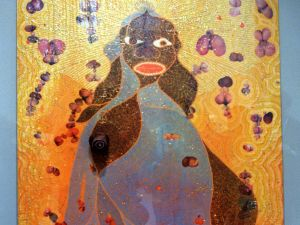 The New York Times editorial page aggressively defended Artist Chris Ofili's controversial dung-covered work The Holy Virgin Mary when it displayed at the Brooklyn Museum of Art in September 1999. (DOUG KANTER/AFP/Getty Images)